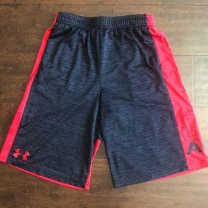 Boys Under Armour heat gear shorts